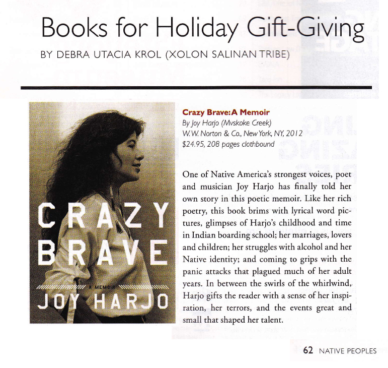 JH Native Peoples 2012 Crazy Brave Review