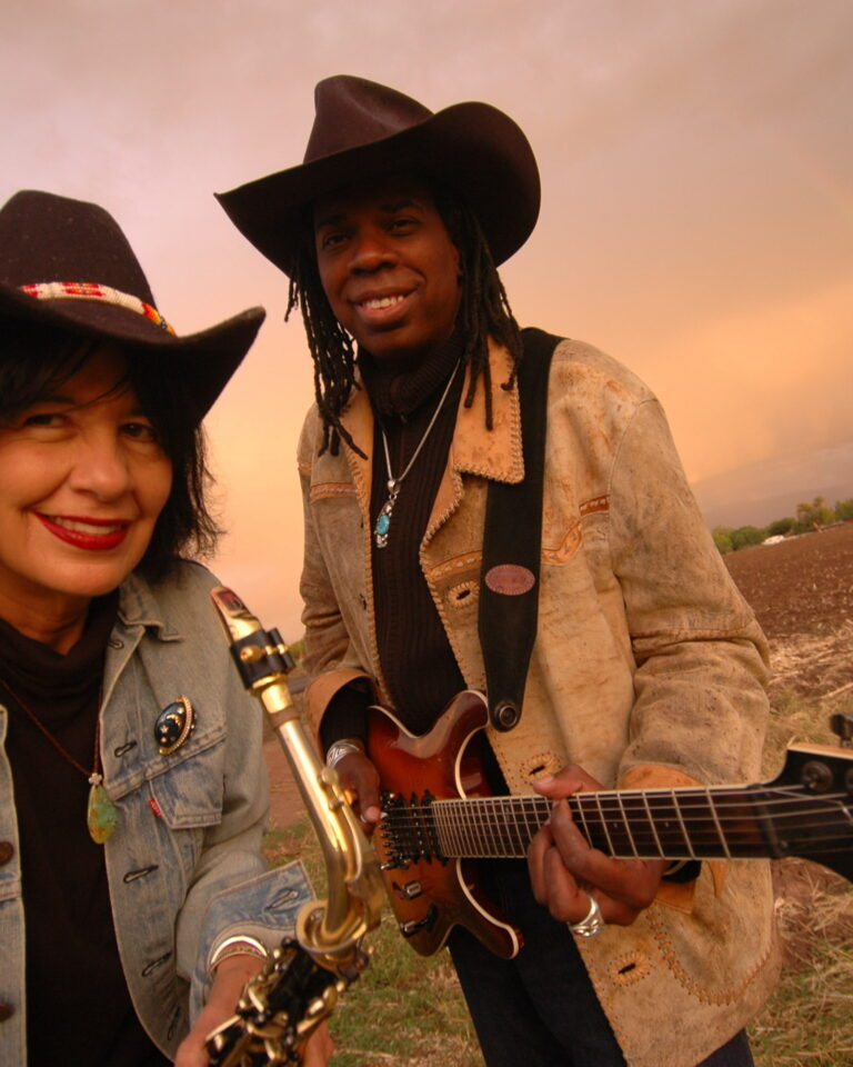 Joy Harjo & Larry Mitchell -- Photo by Karen Kuehn