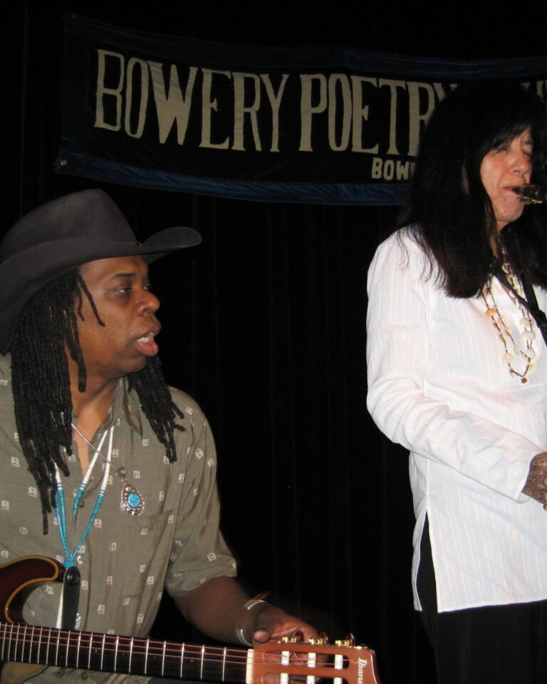 Performing with Larry Mitchell at Bowery Club